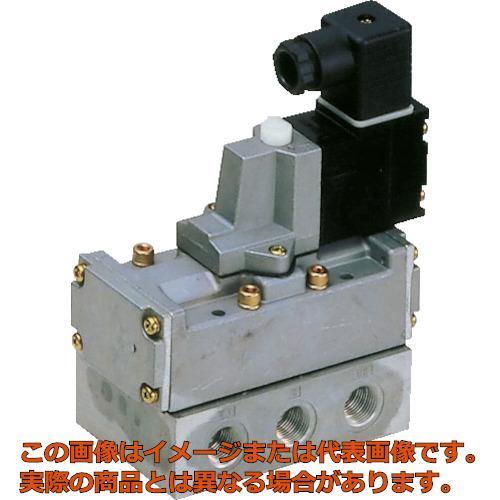 CKD 4Fシリーズパイロット式5ポート弁セレックスバルブ 18C[dm[[の3乗]]/(S・bar)]/音速コンダクタンス 4F61020AC200V