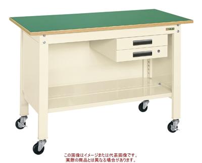 サカエ 一人用作業台(軽量移動式) CPB-126BI【代引不可・配送時間指定不可・個人宅不可】
