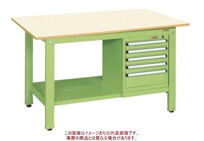 軽量作業台KKタイプ(スモールキャビネット付) KK-59PSL5IG【配送日時指定不可・個人宅不可】