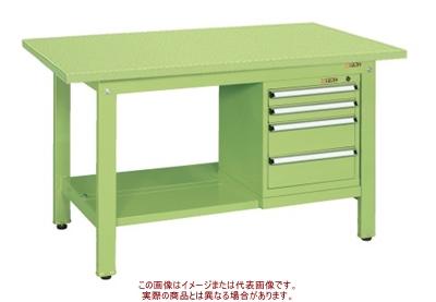軽量作業台KKタイプ(スモールキャビネット付) KK-59SSL4【配送日時指定不可・個人宅不可】
