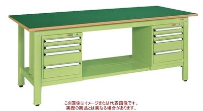 軽量作業台KKタイプ(スモールキャビネット付) KK-69FSL42【配送日時指定不可・個人宅不可】
