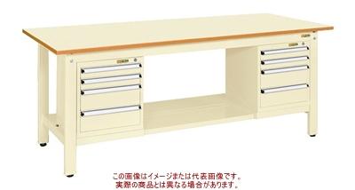 軽量作業台KKタイプ(スモールキャビネット付) KK-69PSL42I【配送日時指定不可・個人宅不可】