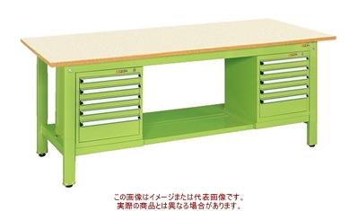 軽量作業台KKタイプ(スモールキャビネット付) KK-69PSL52IG【配送日時指定不可・個人宅不可】