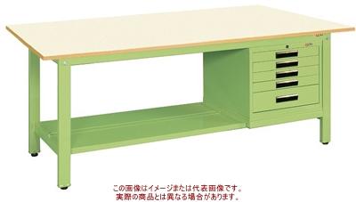 軽量作業台KKタイプ(SVEキャビネット付) KK-69PSVE5IG【配送日時指定不可・個人宅不可】
