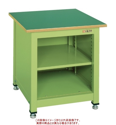一人用作業台KTタイプ(中棚付) KT-102N【配送日時指定不可・個人宅不可】