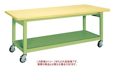 重量作業台KWBタイプ(移動式) KWBG-158【配送日時指定不可・個人宅不可】