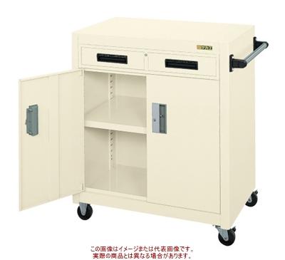 パネルワゴン(ゴム車・引出し・扉付) PKW-7AI【配送日時指定不可・個人宅不可】
