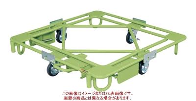 サカエ 自在移動回転台車(中量型・フットブレーキ付) RB-4FBG【代引不可・配送時間指定不可・個人宅不可】