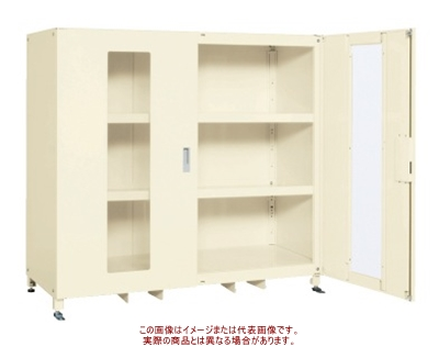 スーパージャンボ保管庫(透明窓付扉) SKS-156715MAI【配送日時指定不可・個人宅不可】