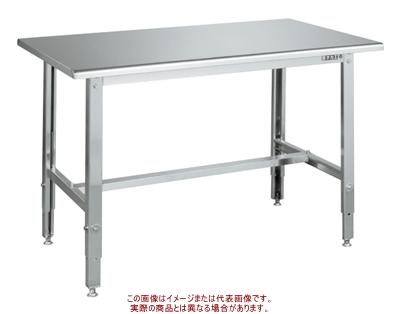 ステンレス高さ調整作業台(天板R付・SUS430) SUT4-157RC【配送日時指定不可・個人宅不可】