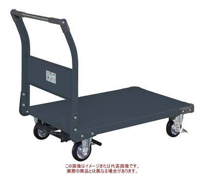 特製四輪車(固定ハンドルタイプ・フットブレーキ付) TAN-55BRD【配送日時指定不可・個人宅不可】