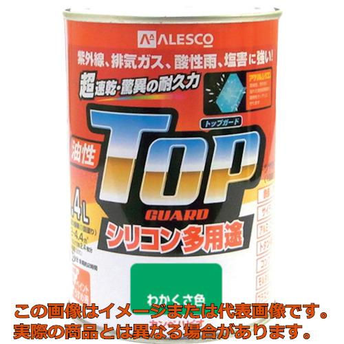 正規品 業務用 オレンジブック掲載商品 KANSAI 1190184 人気の定番 カンペ 油性トップガード0.4Lわかくさ色