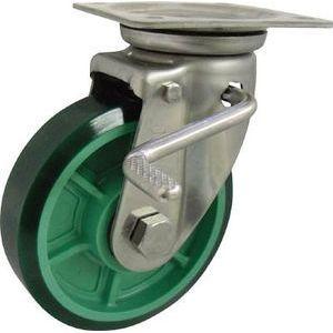 ヨドノ 樹脂製ウレタンゴム車輪ステンレス製自在車ストッパー付 PNUJAB150