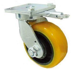 ヨドノ 重量用高硬度ウレタン自在車150φ旋回ロック付 TDUJ150TL