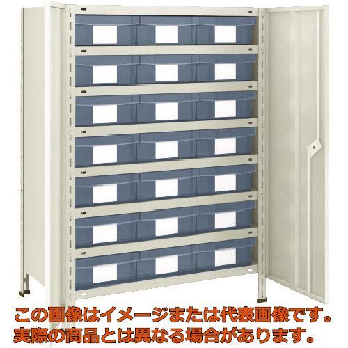 TRUSCO 軽量棚扉付 875X300X1200樹脂引出透明大X21 ネオグレー 43VT808D7 NG