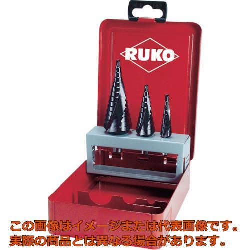 RUKO 2枚刃スパイラルステップドリルセット 3本組 チタンアルミウム 101026F
