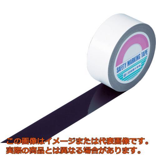 緑十字 ガードテープ(ラインテープ) 黒 50mm幅×100m 屋内用 148057