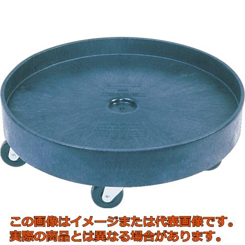 ラバーメイド ラウンドブルートコンテナ用ドーリー ドラム式 ブラック 2650