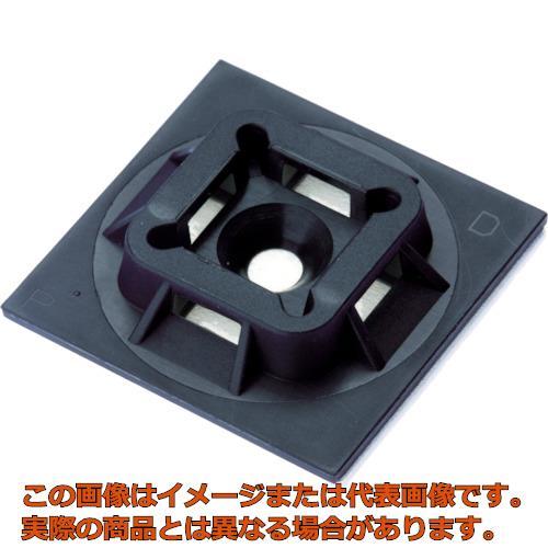 パンドウイット マウントベース ゴム系粘着テープ付き 黒 (500個入) ABM100AD20