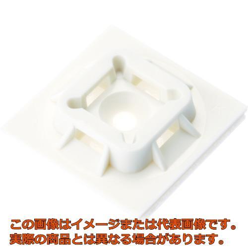 パンドウイット マウントベース アクリル系粘着テープ付き 白 (500個入) ABM100ATD