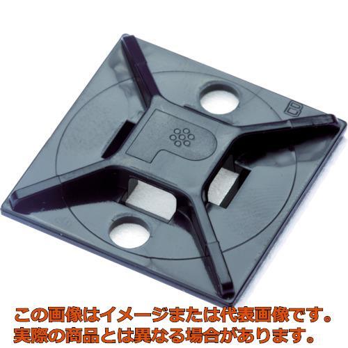 パンドウイット マウントベース ゴム系粘着テープ付き 黒 (500個入) ABM112AD20