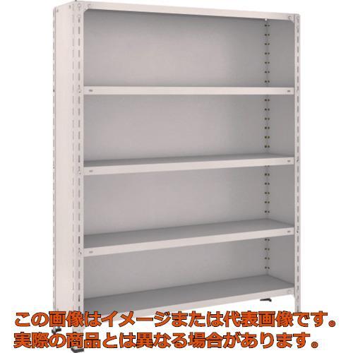 TRUSCO 軽量棚背板・側板付 W1200XD300X1500 5段 ネオグレー 54V25 NG