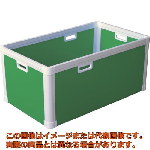 【代引き不可・配送時間指定不可】 KUNIMORI プラダン ブロックコンテナ(TPタイプ)TP484 ライトグリ 77301-TP484-LG