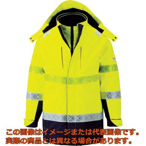ジーベック 801 高視認防水防寒コート LL イエロー 80180LL