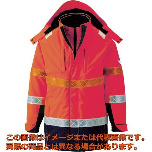 ジーベック 801 高視認防水防寒コート LL オレンジ 80182LL