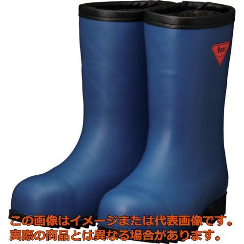 SHIBATA 防寒安全長靴セーフティベアー#1011白熊(ネイビー)フード無し AC06127.0