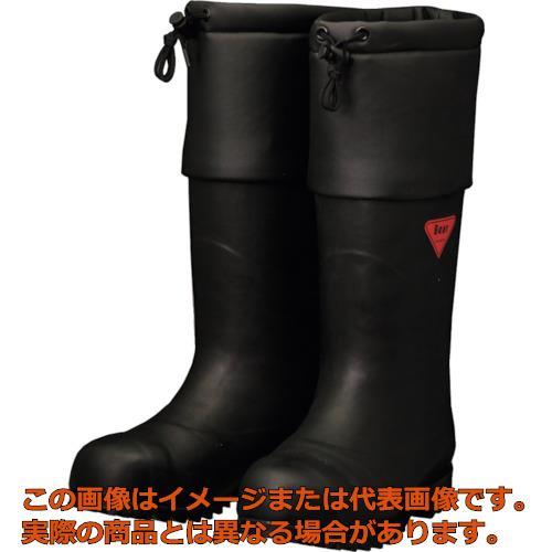 SHIBATA 防寒安全長靴 セーフティベアー#1001白熊(ブラック) AC11126.0