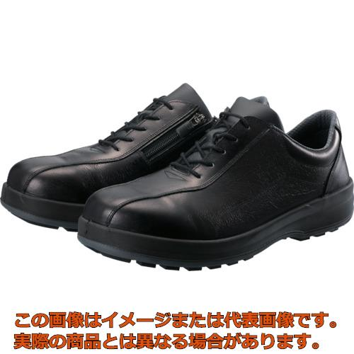 シモン 耐滑・軽量3層底安全短靴8512黒C付 23.5cm 8512C235