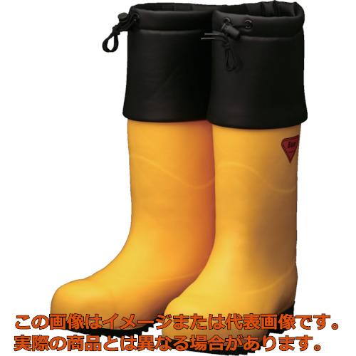 SHIBATA 防寒安全長靴 セーフティベアー#1001白熊(イエロー) AC09122.0