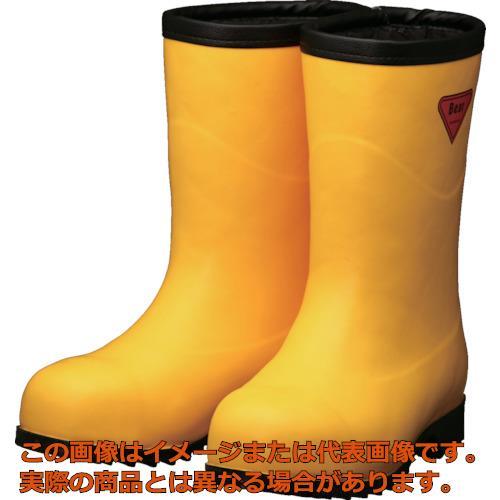 SHIBATA 防寒安全長靴セーフティベアー#1011白熊(イエロー)フード無し AC10122.0