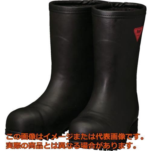 SHIBATA 防寒安全長靴セーフティベアー#1011白熊(ブラック)フード無し AC12122.0