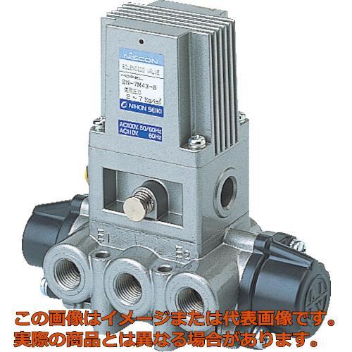 日本精器 4方向電磁弁8AAC100V7Mシリーズシングル BN7M438E100