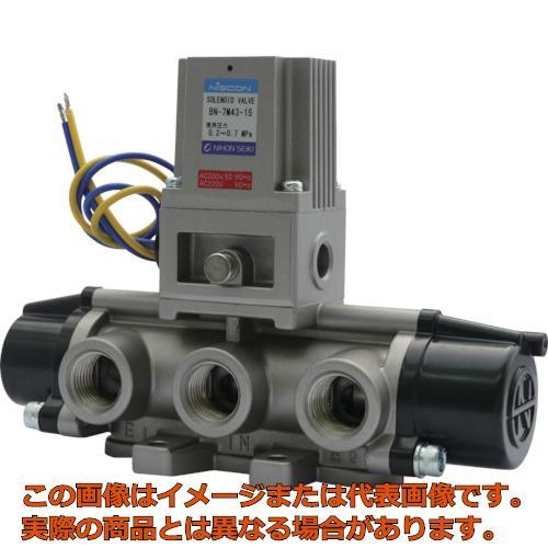 日本精器 4方向電磁弁15AAC200V7Mシリーズシングル BN7M4315E200