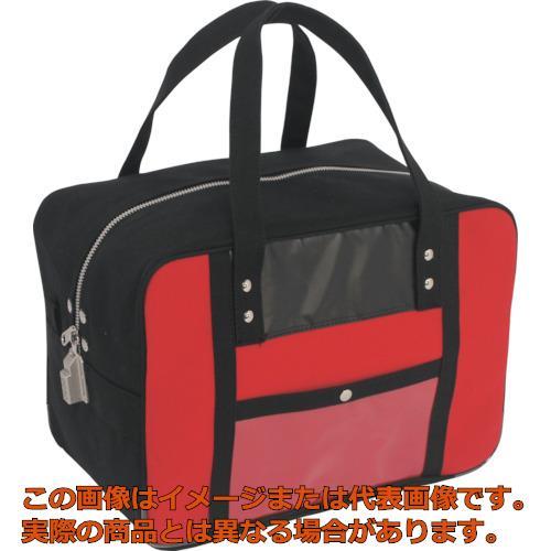 SANEI 帆布メール用ボストンMマチ広 SED-1錠付 赤 BTMDESED02