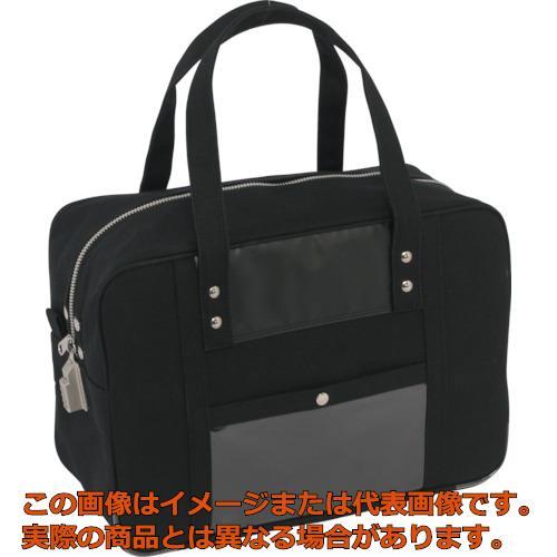 SANEI 帆布メール用ボストン(M)SED-1錠付 黒 BTMSED01