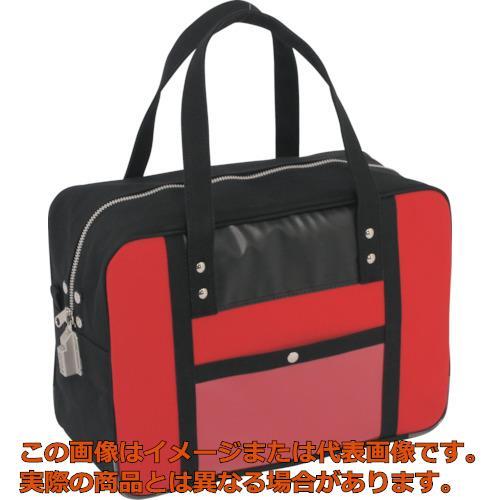 SANEI 帆布メール用ボストン(M)SED-1錠付 赤 BTMSED02