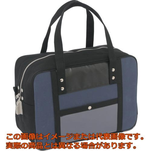 SANEI 帆布メール用ボストン(M)SED-1錠付 紺 BTMSED03