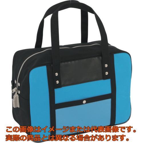 SANEI 帆布メール用ボストン(M)SED-1錠付 ブルー BTMSED09