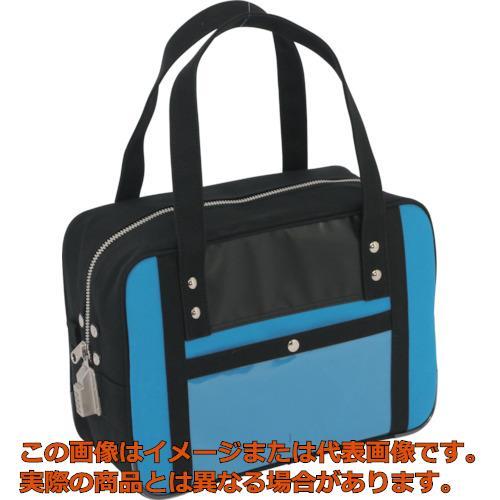 SANEI 帆布メール用ボストン(S)SED-1錠付 ブルー BTSSED09