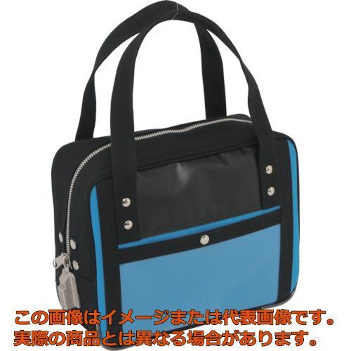 SANEI 帆布メール用ボストン(SS)SED-1錠付 ブルー BTSSSED09