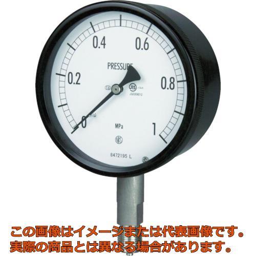 長野 密閉形圧力計 A枠立型 Φ100 最小目盛0.005 BE101330.16MP