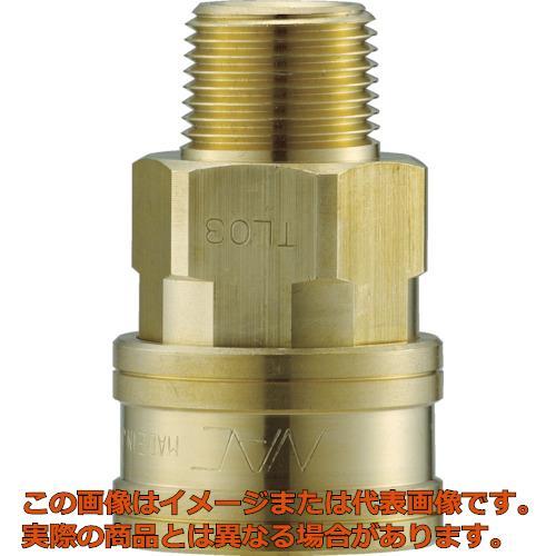 ナック クイックカップリング TL型 真鍮製 メネジ取付用 CTL10SM2