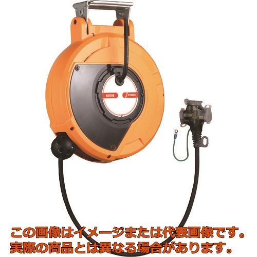 ハタヤ コードマック2 単相100V 10m 接地付 三ツ口コンセント CDS2101TK
