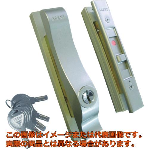AGENT 万能引違戸錠 ディンプルシリンダータイプ BJ-1 シルバー BJ1007