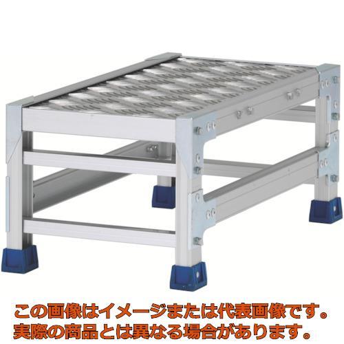 【代引き不可・配送日時指定不可】 アルインコ 作業台(天板縞板タイプ)1段 天板寸法300×600mm高0.25m CSBC123WS