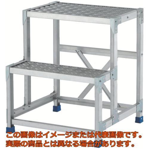 【代引き不可・配送時間指定不可】アルインコ 作業台(天板縞板タイプ)2段 CSBC276S